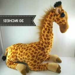 Wild Republic Cuddlekins Jumbo Giraffe Plush Sitting 30 inch