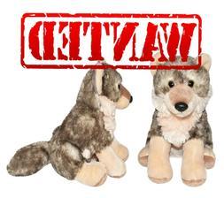 "Cuddlekins Stuffed Animal Wolf Fluffy 8"" Plush Toy Any Age K"