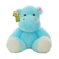 "Cuddly Blue Hippo Doll 9"" Soft Baby Stuffed Animal Toy Valen"