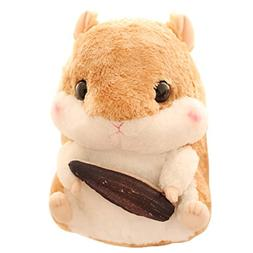 "Cuddly Hamster Stuffed Animal Doll 8"" Soft Brown Mouse Toy K"