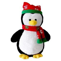 "Cuddly Hat Scarf Black Penguin Doll 7 "" Soft Baby Stuffed An"