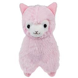 """Cuddly Llama Pink Alpaca Doll 7 """" Soft Baby Stuffed Animal T"""