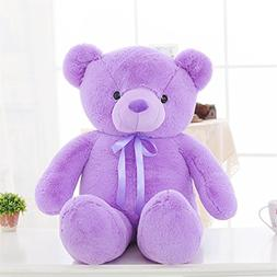 YXCSELL 2 FT 24 Inches Cuddly Purple Ribbon Bow Tie Cute Sof