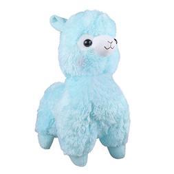 """TOLLION Cuddly Soft Blue Alpaca Llama Lamb Toy -7"""" Stuffed A"""