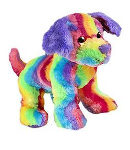 Cuddly Soft 16 inch Stuffed Rainbow Stripe Dog...We stuff 'e