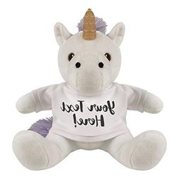 Customizable Unicorn For Gifts: 8 Inch Unicorn Stuffed Anima