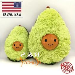 "Cute 12"" Stuffed Avocado Plush Toy Super Soft and Cuddly Pil"