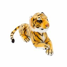 "BRUBAKER Cute Brown Plush Tiger, 10"", Soft Toy, Stuffed Anim"