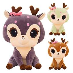 Alonea Cute Deer Stuffed Animal Soft The Deer Plush Toys - B