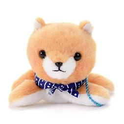 Cute Dog Plushie Amuse Stuffed Animal Blue Collar Backpack C