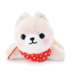 Cute Dog Plushie Amuse Stuffed Animal Red Collar Backpack Ch