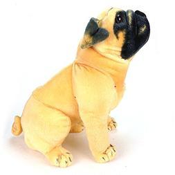 KateDy Stuffed Animal Pug Dog Lifelike Puppy Best Real Frien