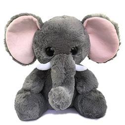 Ice King Bear Cute Stuffed Elephant - Big Ears - Grey Plush