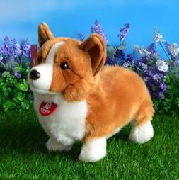 Cute Welsh Corgi Dog Plush Toy Stuffed Animal Puppy Kids Bir
