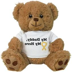 Customized Girl My Daddy And Hero: 8 Inch Teddy Bear Stuffed
