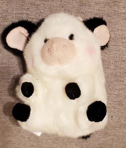 5 Inch Daisy Cow Rolly Pet Plush Stuffed Animal by Aurora