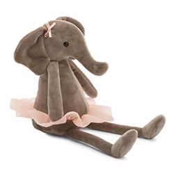 Jellycat Dancing Darcey Elephant Stuffed Animal, Small, 10 i