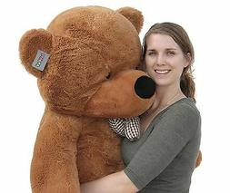 "Joyfay 63"" 160cm Dark Brown Giant Teddy Bear Big Soft Stuffe"