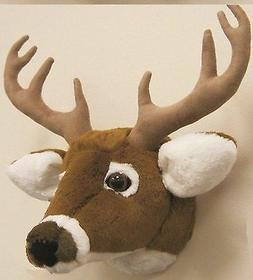 Deer Head Stuffed Tailed SAH Plush Figures 11 Wall Mount Moo