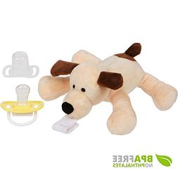 Plush Pacifier Holder with stuffed animal - Detachable Puppy