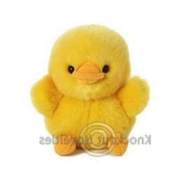 5 Inch Dewey Duckling Rolly Pet Plush Stuffed Animal by Auro