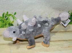 """Wild Republic Dinosauria Mini Ankylosaur 10"""" Plush"""