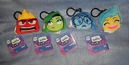 Disney Inside Out Reversible Plush Emoji Backpack Clip Keych