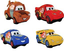 Ty Disney / Pixar Cars 3 Beanie Babies Set of 4 , FREE GIFT