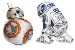 Disney R2D2 and BB-8 Plush - Star Wars - Mini Bean Bag - 8""