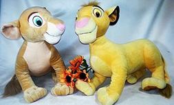 Disney Lion King Simba and Nala large set Jumbo Stuffed Anim