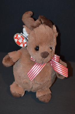 Bearington Collection Doeball Bow Christmas Reindeer Plush S