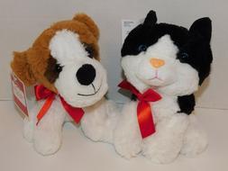 Dog & Cat Plush Stuffed Animals St. Bernard & Black / White