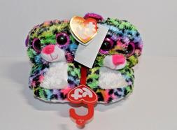 Dotty Ty Beanie Boos Kids Plush Animal Slippers Size Small N