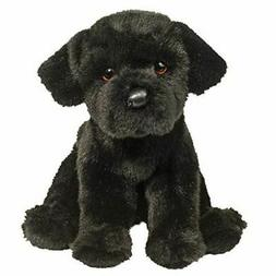 "Douglas Plush Whittaker Black Lab Stuffed Animal 8"" H Sittin"