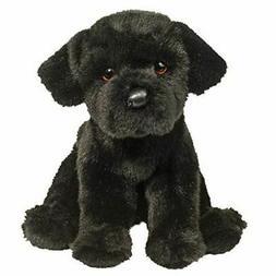 "Douglas Plush Whittaker Black Lab Stuffed Animal 8"" H Sittin"
