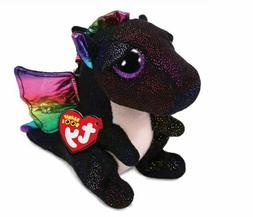 "Dragon Colorful  6"" Ty Beanie Boos Puppy Glitter Big Eyes Pl"