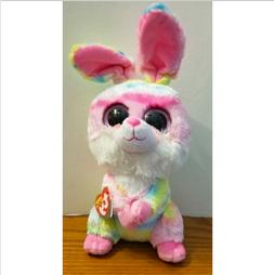 New! Easter 2018 Ty Beanie Boos LOLLIPOP Tie Dyed Bunny Medi