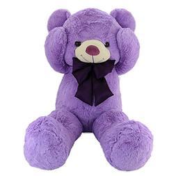 WEWILL Cuddly Giant Lavender Teddy Bear, Violet Stuffed Anim