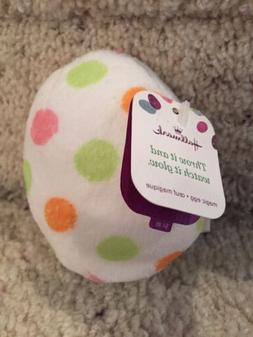Hallmark Easter Plush Magic Blinking Glowing Polka Dot Egg N