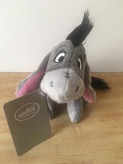"Disney Eeyore Plush Mini Bean Bag Toy 7"" - NEW with Tags"