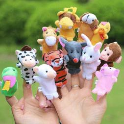 Family Finger Puppets Stuffed Plush Cloth Doll Baby Educatio