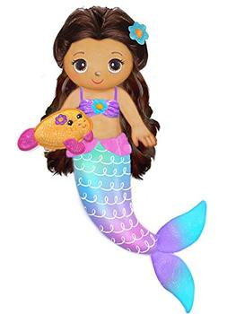 "First & Main 18"" Fantasea Friends Aquana Mermaid Plush Toys,"