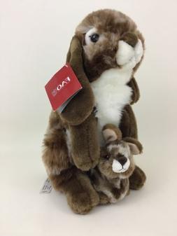 "FAO Toys R Us Realistic Bunny Rabbit w Baby Bunny 14"" Plush"