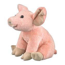 9 Inch Farm Critters Pig Plush Stuffed Animal by Wildlife Ar