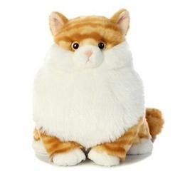 "New Arrival 10 "" Fat Cats Butterball Orange Tabby Cat Plush"