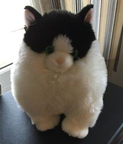 10 Inch Fat Cats Muffins Tuxedo Cat Plush Stuffed Animal by