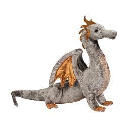 16 Inch Faust Silver Dragon Plush Stuffed Animal by Douglas