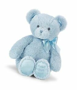 Bearington Baby's First Teddy Bear Blue Plush Stuffed Animal