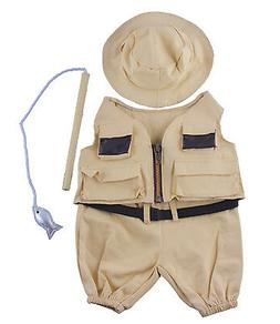 "Fisherman w/Hat and Pole Outfit Teddy Bear Clothes Fit 14"" -"