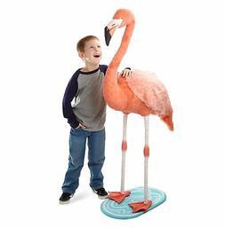 Melissa & Doug Lifelike Plush Flamingo Stuffed Animal